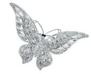 Butterfly Wedding Brooch in. Crystal