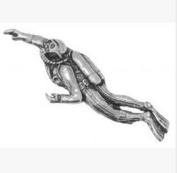 Gift Boxed Pewter Male Scuba Diver Badge pin or Brooch Gift for Scarf, Tie, Hat, Coat or Bag