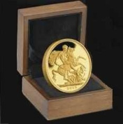 1891 Full Gold Sovereign - Luxury Walnut Presentation Case with Air Tight Coin Capsule