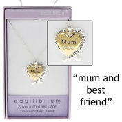 SILVER PLATED GOLD HEART PENDANT NECKLACE - Mum gift