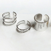 3pcs Top Of Finger Ring Over The Midi Tip Finger Above The Knuckle Open Ring Sets