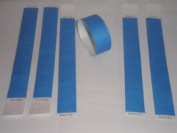 500 NEON BLUE Premium Tyvek Wristbands