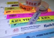 1000 CUSTOM PRINTED Premium Tyvek Wristbands - ANY COLOUR