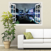 Full Colour Wall Art Sticker Leeds Sunset Window Decal Transfer Mural Graphic RW19609-04