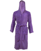 100% EGYPTIAN COTTON BATH ROBES FOR MEN AND WOMEN, HOODED/NON HOODED COMFORTABLE AND WARM IN SMALL- X-LARGE (SMALL/MEDIUM, PURPLE
