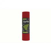 StayPut ECO PER Chilli Red Non-Slip Fabric Roll. 30.5 x 183cm