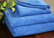 Homescapes Turkish Cotton Jumbo Towel Royal Blue Very Soft and Absorbent, 500 GSM Heavy Weight for everyday Luxury