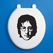 JOHN LENNON TOILET SEAT SILHOUETTE - Beatles, Singer, Rock Band, Songwriter Vinyl Sticker