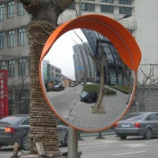 Traffic Wide Angle Security Curved Convex Road Mirror 180 Degrees 60cm 457125