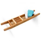 Bathtub Caddy With Soap Rack Bamboo 70x5.5x15cm