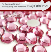 Pack of 1000 x Pink 4mm Crystal Flat Back Rhinestone Diamante Gems *Factory Sealed & Labelled*