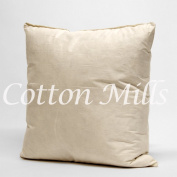 "Cotton Mills 18"" x 18inch (45cm x 45cm) Natural Duck Feather Filled Square Cushion Inner Pad Insert with Cambric Cotton Casing Cover"