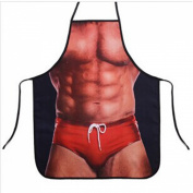 HQdeal Sexy Funny Novelty Kitchen Apron Cooking BBQ Party MuscleNerd Apron For Men Gift