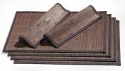 Ritzenhoff & Breker 357998 Place Mats Bamboo Set of 6 Each 30 x 45 cm Dark Brown