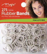Magic Collection Elastic Rubber Bands White *For Pony Tails And Braids*Item no 2751 WHI
