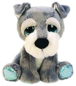 Suki Gifts Lil Peepers Fun Skyler Schnauzer Dog Plush Toy with Blue Sparkle Accents
