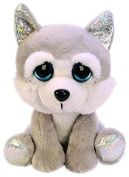 Suki Gifts Lil Peepers Fun Aspen Husky Dog Plush Toy with Silver Sparkle Accents