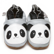 Soft Leather Baby Shoes Panda 6-12 months