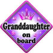 GEM GRANDDAUGHTER Baby on Board Car Window Sign