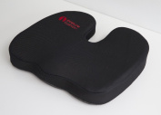 Posture Cushion - Seat Wedge Lumbar Support Cushion With Soft Memory Foam Insert. Great For Coccyx Comfort And Pain Relief. Helps Prevent Back Pain While Sitting In The Car Home And Office. Available With Black Mesh Cover And Anti Slip Base. Great Qual ..
