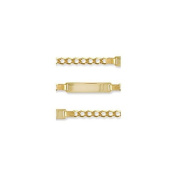Jewelco London 9ct Solid Gold children's Curb ID Bracelet