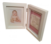 Baby Casting Impression Kit for baby handprint or footprint & White Frame