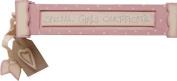 Baby Girl Pink & Cream Birth Certificate Holder Christening Gift