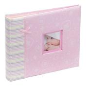 Kenro happy baby girl pink photo album and scrapbook 2 in 1