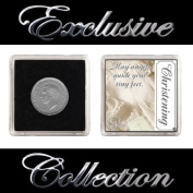 """LUCKY SIXPENCE FOR CHRISTENING """"BOY & GIRL"""""""
