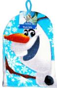 DISNEY FROZEN OLAF THE SNOWMAN BATH SHOWER TOWEL WASH MITT WITH HANGING LOOP