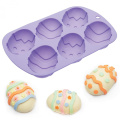 Kitchen Craft Hoppity Does It Easter Egg Silicone Cake Pan 6 Mould Mould Baking Bakeware Chocolate Fondant Candy Sugarcraft Jelly Soap Tray