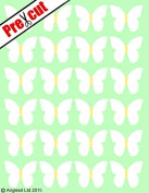 PRE-CUT WHITE HAWAIIAN BUTTERFLY EDIBLE RICE / WAFER PAPER CUP CAKE TOPPERS PARTY DECORATION