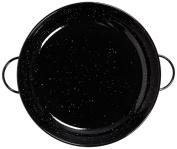 La Valenciana 16 cm Enamelled Steel Frying Pan with 2 Handles, Black
