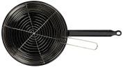 La Valenciana 28 cm Enamelled Deep Frying Pan with 2 Handles, Black