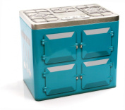 Aga Style Cooker Embossed Tin. Kitchen Biscuit Cookie Storage.