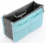 TheWin Travel Organiser Insert Tidy Cosmetic Handbag Blue
