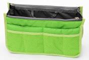 TheWin Travel Organiser Insert Tidy Cosmetic Handbag Green