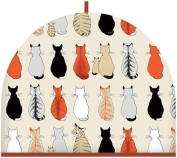 SITTING CATS AND KITTENS COTTON KITCHEN TEA COSY