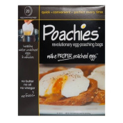 The Caraselle Pack of 20 Poachies Egg-Poaching Bags Perfect Every Time