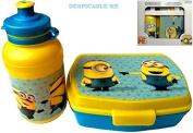 Despicable Me Kids Lunch Sandwich Box & Sports Water Juice Drinks Bottle For Children School