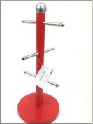 Mug Tree Kitchen Roll Holder Glass Holder RED