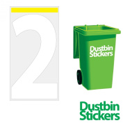 4 x Number 2 Wheelie Bin Stickers