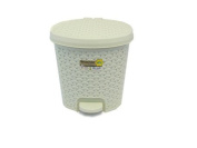 11.5 Litre RATTAN CREAM Pedal Bin Bathroom Waste Dustbin Kitchen Wicker Effect