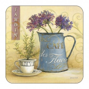 Pimpernel Cafe de Fleurs Coasters - Set of 6