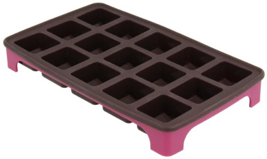 Metaltex Flexible Silicone Chocolate Cube Shape Mould Tray, Brown