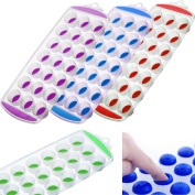 Ice Cube Tray Easy Pop Maker Ice Cube Plastic Silicone Top Mould 21 Ice Cubes Fusion