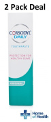 Corsodyl Daily Gum & Tooth Paste 75ml **2 PACK DEAL**