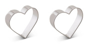 Bakerpan Tin Plated Steel Cookie Cutter Hearts Set of 2