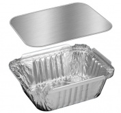 Handi-foil 0.5kg. Oblong Pans W/board Lids 50 Sets - Aluminium Take-out Containers