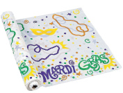 Mardi Gras Printed Banquet Roll (30m X 100cm )- Party Tableware & Table Covers